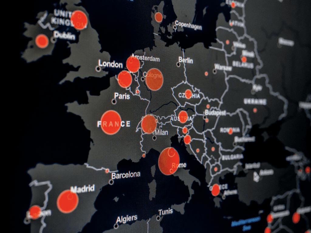 Corona Virus across Europe